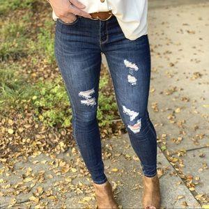 Dark Denim Distressed Jeans